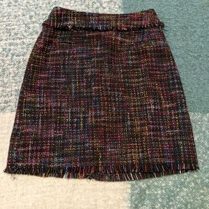 H&M Rainbow Tweed Mini Skirt Size 2